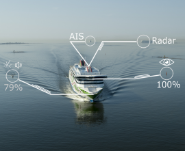 Artificial Intelligence / Machine Learning Sensor Fusion for autonomous Vessel Navigation